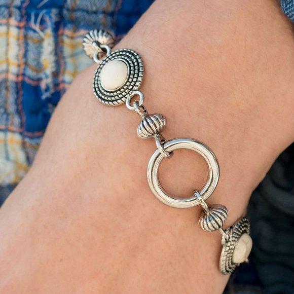 Musical Mountains White Bracelet